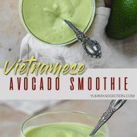 Vietnamese avocado smoothie pinterest pin