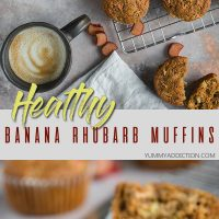 Banana rhubarb muffins pinterest pin