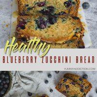 Healthy blueberry zucchini bread pinterest pin