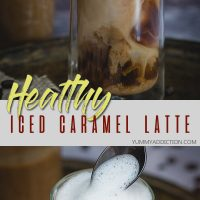 Healthy iced caramel latte pinterest pin