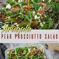 arugula prosciutto salad pinterest pin