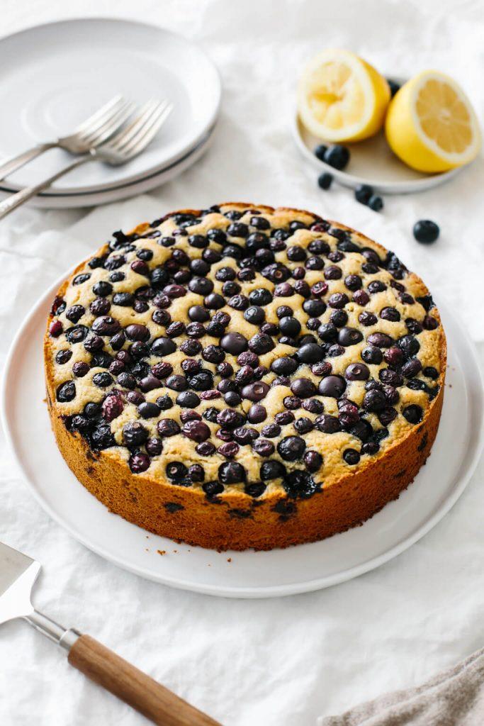 Paleo Lemon Blueberry Cake