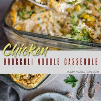 Chicken broccoli noodle casserole pinterest pin