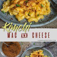 Kimchi mac and cheese pinterest pin