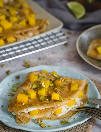Healthy Mango Crepes