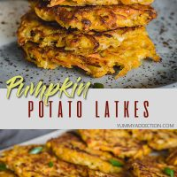 Potato pumpkin latkes pinterest pin