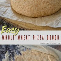 Whole wheat pizza dough pin
