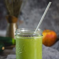 Glass of zucchini smoothie