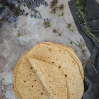 Pile of homemade whole-wheat tortillas