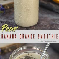 Banana orange smoothie pinterest pin