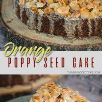 Orange almond poppy seed cake pinterest pin