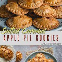 Salted caramel apple pie cookies pin