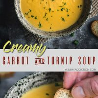 Carrot and turnip soup pinterest pin