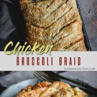Chicken broccoli braid pinterest pin