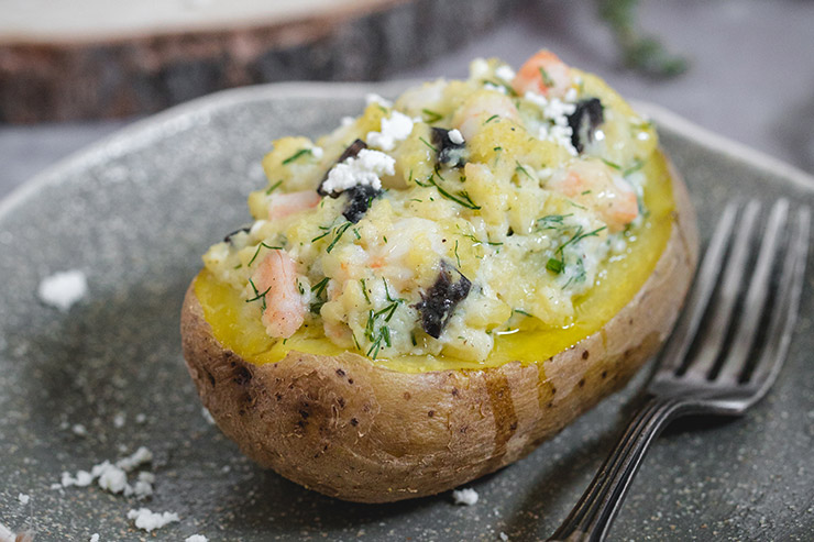 Shrimp stuffed potato