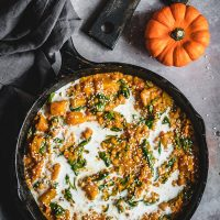 Pan of creamy pumpkin curry