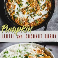 Pumpkin lentil curry pinterest pin