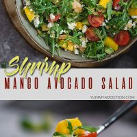 Shrimp mango avocado salad pinterest pin