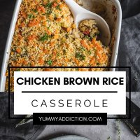 Chicken brown rice casserole pinterest pin