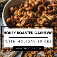 Honey roasted cashews pinterest pin