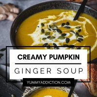 Pumpkin ginger soup pinterest pin