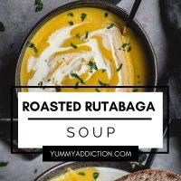 Roasted rutabaga soup pinterest pin