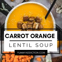 Carrot and orange soup pinterest pin