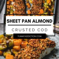 Almond crusted cod pinterest pin