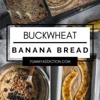 Buckwheat banana bread pinterest pin