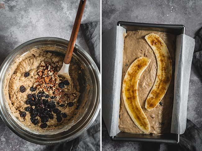 The process of making banana bread