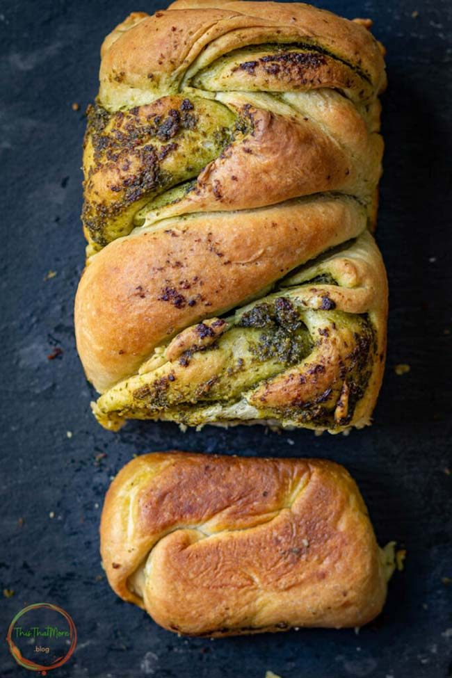 Braided pesto babka