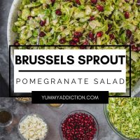 Brussels sprout pomegranate salad pinterest pin
