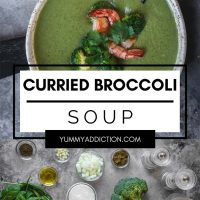 Curried broccoli soup pinterest pin