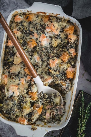 Creamy Salmon and Wild Rice Casserole
