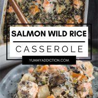 Salmon and wild rice casserole pinterest pin