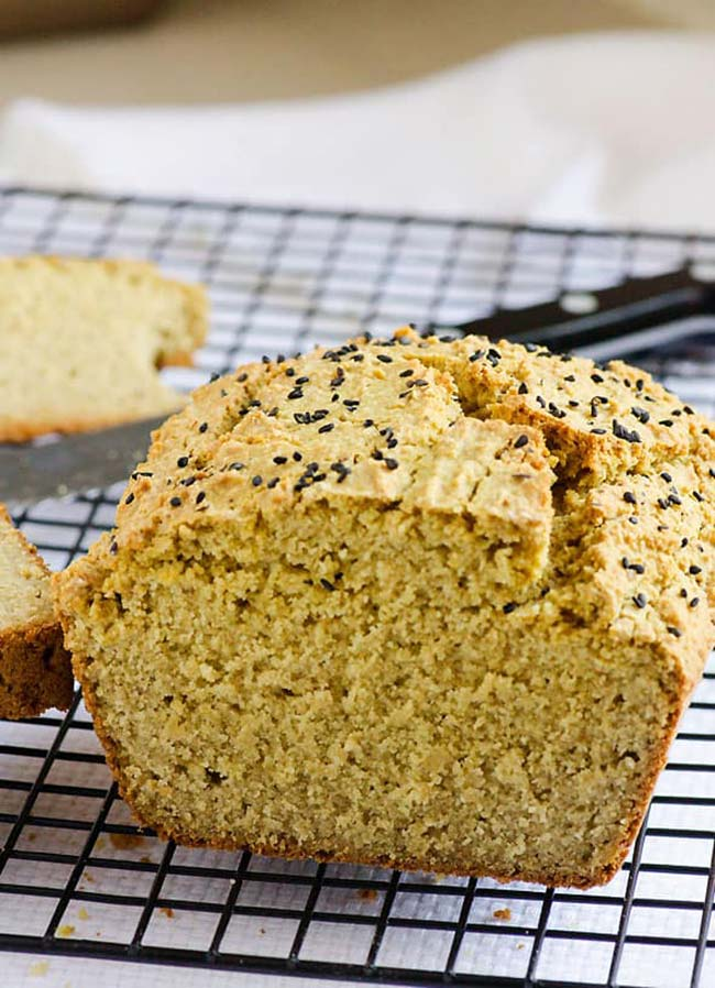 Sliced quinoa bread