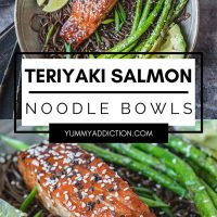 Teriyaki salmon noodles pinterest pin