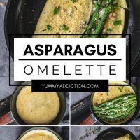 Asparagus omelette pinterest pin