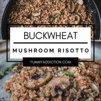 Buckwheat risotto pinterest pin
