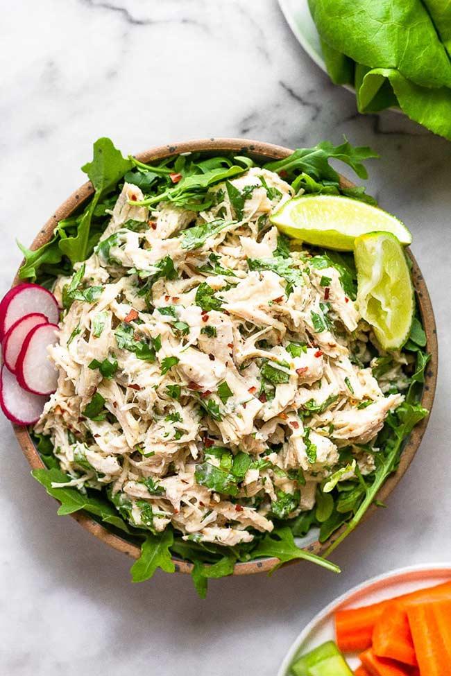 Cilantro Lime Chicken Salad (Paleo/Whole30)