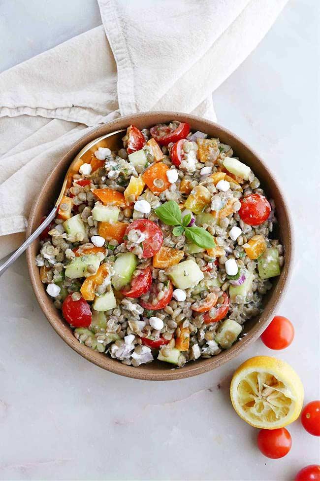 Best Greek Lentil Salad