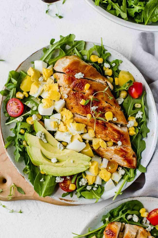 Healthy Chicken Cobb Salad Recipe