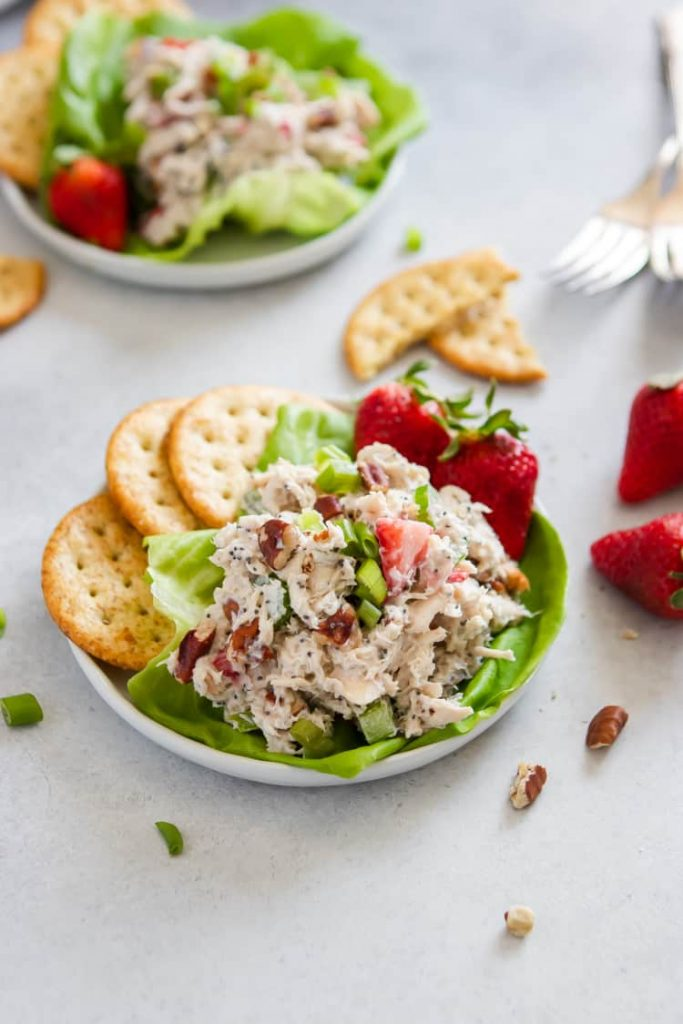 Strawberry Poppy Seed Pecan Chicken Salad