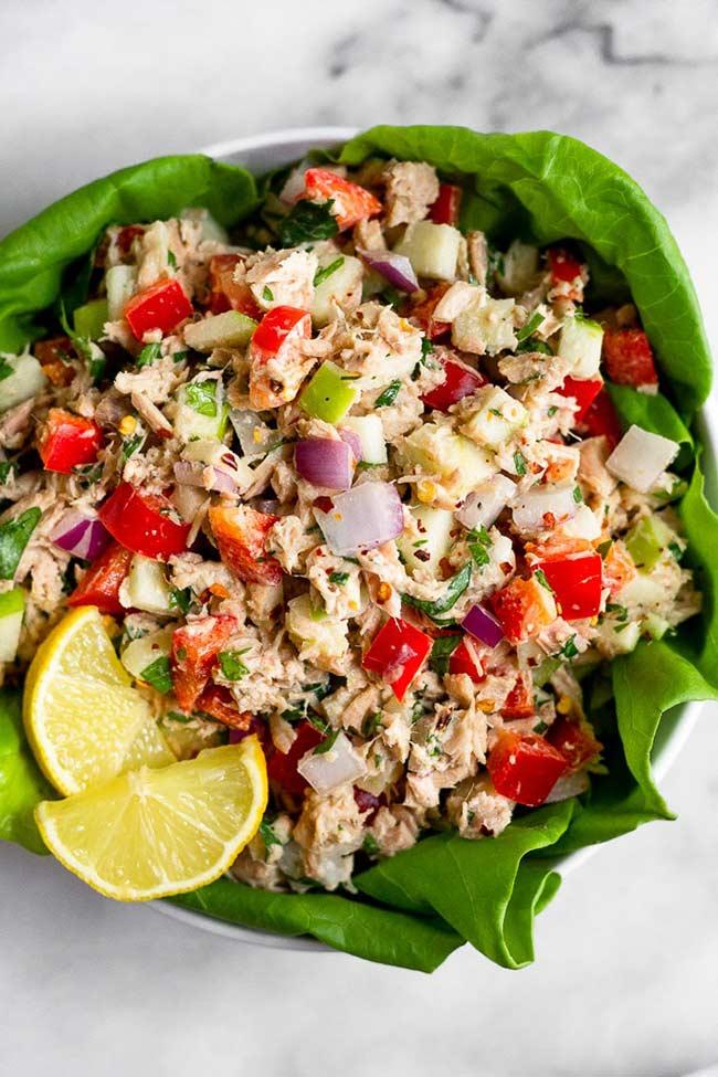 Whole30 Tuna Salad (No Mayo)