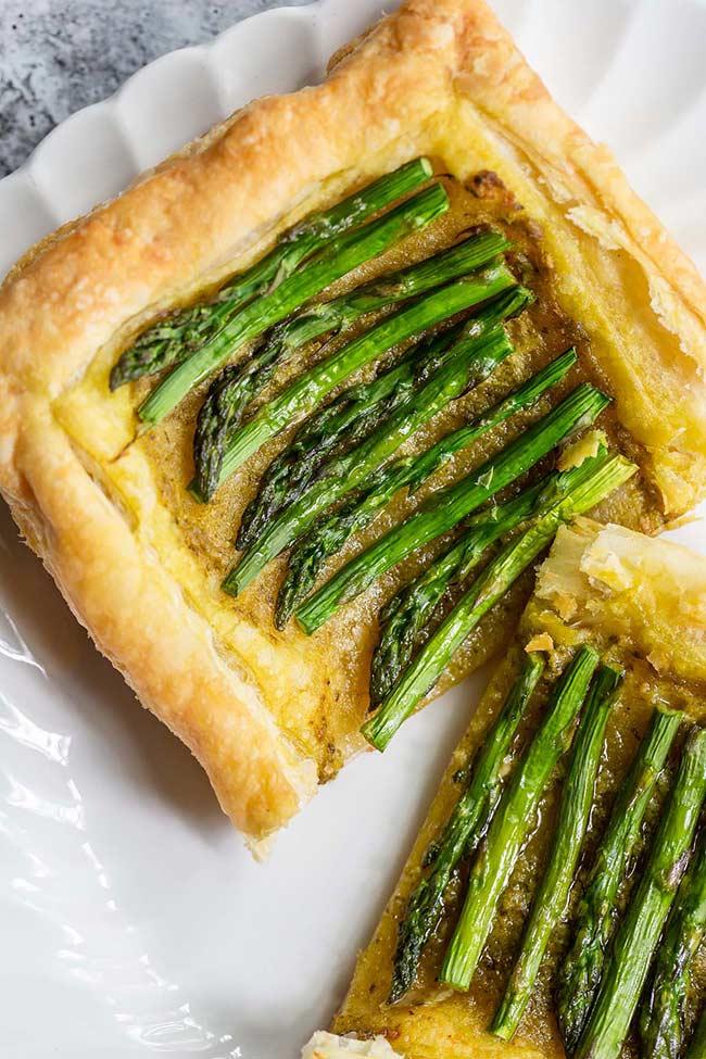 Easy Asparagus Pesto Tart