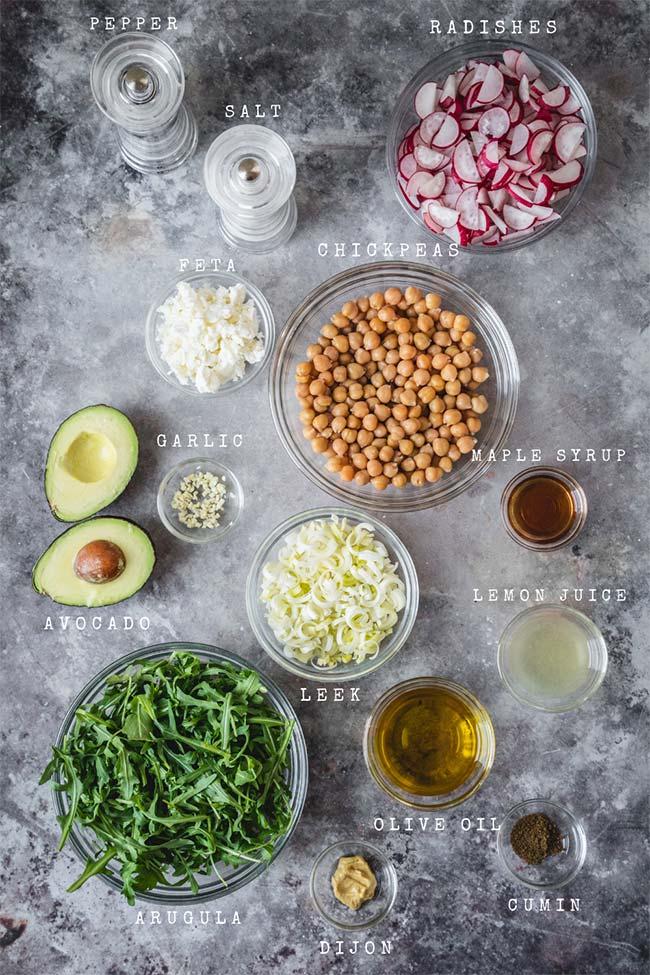 Radish salad ingredients