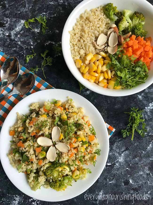 Vegetable Millet salad
