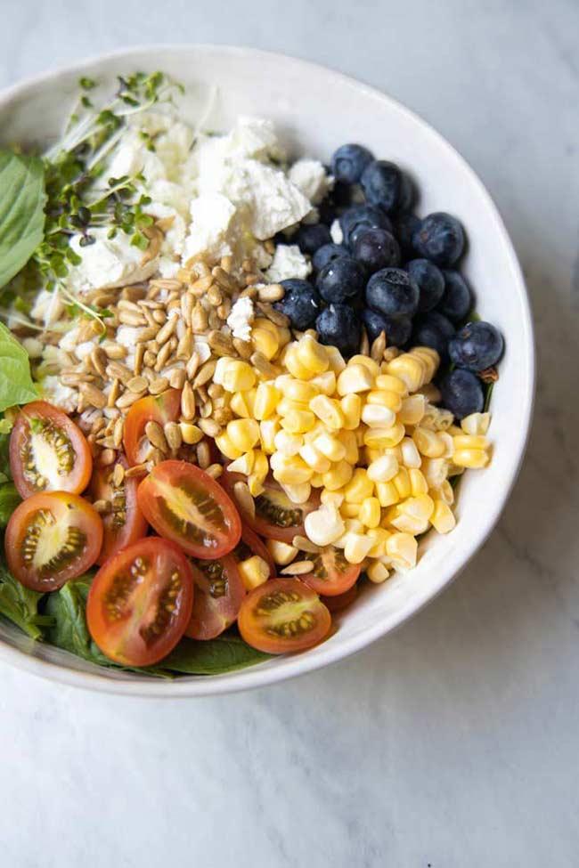 Summer Grain Bowl with Lemon Basil Vinaigrette