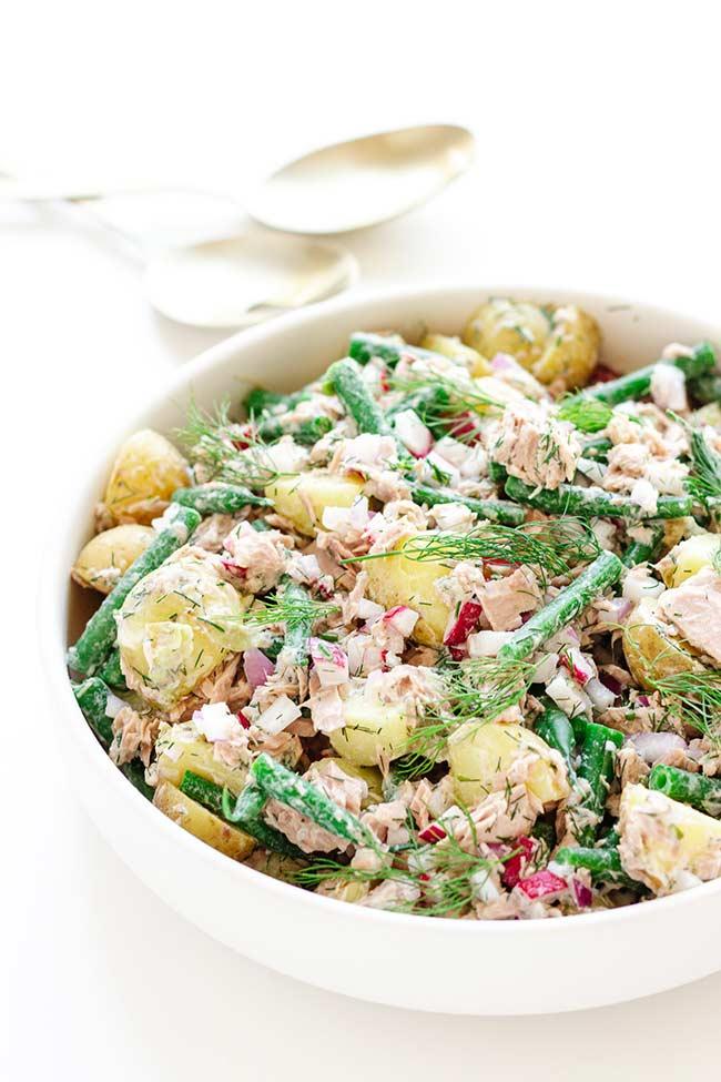 Tuna Potato Salad With Dill Buttermilk Dressing