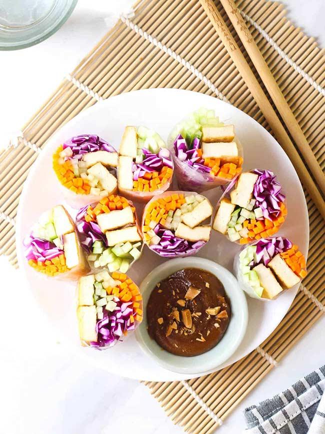 Vegan Rice Paper Summer Rolls (Goi Cuon Chay)